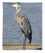 The Great Blue Heron Photo Fleece Blanket