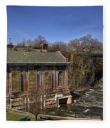 The Great Falls In Paterson Fleece Blanket