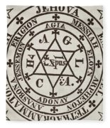 The Great Magic Circle Of Agrippa For The Evocation Of Demons Fleece Blanket