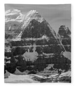 1m3752-bw-the Great North Face Of North Twin Fleece Blanket