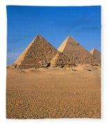 The Great Pyramids Giza Egypt Fleece Blanket