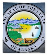 The Great Seal Of The State Of Alaska  Fleece Blanket