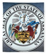 The Great Seal Of The State Of Arkansas Fleece Blanket