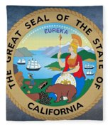 The Great Seal Of The State Of California Fleece Blanket