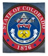 The Great Seal Of The State Of Colorado Fleece Blanket