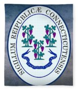 The Great Seal Of The State Of Connecticut Fleece Blanket