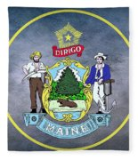 The Great Seal Of The State Of Maine  Fleece Blanket