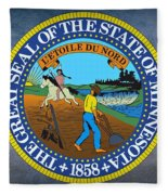 The Great Seal Of The State Of Minnesota Fleece Blanket
