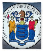 The Great Seal Of The State Of New Jersey Fleece Blanket