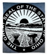 The Great Seal Of The State Of Ohio  Fleece Blanket
