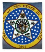 The Great Seal Of The State Of Oklahoma Fleece Blanket