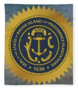 The Great Seal Of The State Of Rhode Island Fleece Blanket