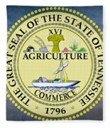 The Great Seal Of The State Of Tennessee Fleece Blanket