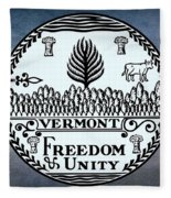 The Great Seal Of The State Of Vermont Fleece Blanket