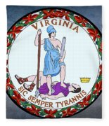 The Great Seal Of The State Of Virginia  Fleece Blanket