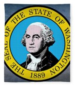 The Great Seal Of The State Of Washington Fleece Blanket