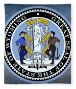 The Great Seal Of The State Of Wyoming Fleece Blanket