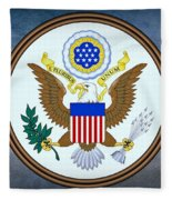 The Great Seal Of The United States  Fleece Blanket