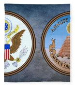 The Great Seal Of The United States Obverse And Reverse Fleece Blanket