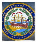 The Great Seal Of The State Of New Hampshire Fleece Blanket