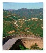 The Great Wall At Badaling In Beijing Fleece Blanket