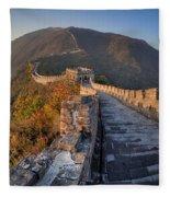 The Great Wall Of China Mutianyu China Fleece Blanket