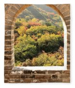 The Great Wall Window Fleece Blanket