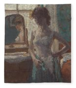 The Green Dress, 1908-09 Fleece Blanket