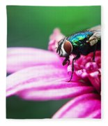 The Green Fly Fleece Blanket