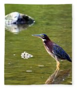 The Green Heron Fleece Blanket