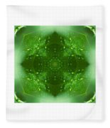 The Green Jewel Of Nature Mandala Fleece Blanket