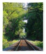 The Green Line Railroad Track Art Fleece Blanket