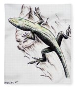 The Green Lizard Fleece Blanket