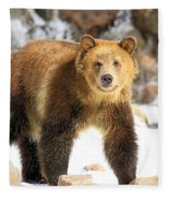 The Grizzly Strut Fleece Blanket