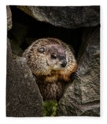 The Groundhog Fleece Blanket