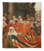 The Guards Cheer, 1898 Fleece Blanket