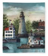The Guiding Lights Of Ohio Fleece Blanket