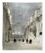The Guildhall, Interior, From London As Fleece Blanket