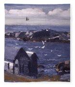 The Gulls Of Monhegan Fleece Blanket