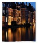The Hague By Night Fleece Blanket