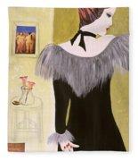 The Handbag, 2004 Acrylic With Collage On Paper Fleece Blanket