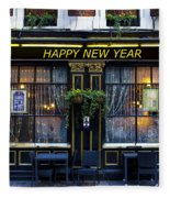 The Happy New Year Pub Fleece Blanket