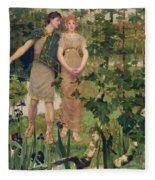 The Happy Valley, 1898 Fleece Blanket