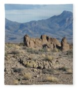 The Haulapai Mountains Fleece Blanket