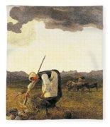 The Hay Harvest  Fleece Blanket