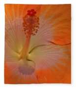 The Heart Of A Hibiscus Fleece Blanket