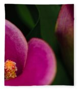 The Heart Of The Lily Fleece Blanket