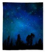 The Heavens Are Declaring Gods Glory Mural Fleece Blanket