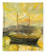 The Heraklion Harbour Fleece Blanket