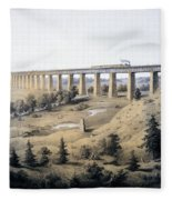 The High Bridge Near Farmville, Prince Fleece Blanket